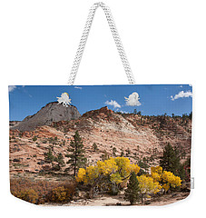 Weekender Tote Bag featuring the photograph Fall Season At Zion National Park by John M Bailey