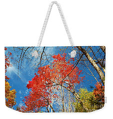 Fall Sky Weekender Tote Bag