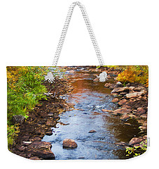 Fall Stream Weekender Tote Bag