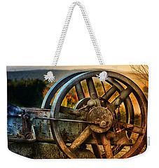 Fall Through The Wheels Weekender Tote Bag by Susan Capuano