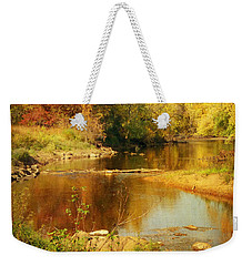 Fall Time At Rum River Weekender Tote Bag by Lucinda Walter