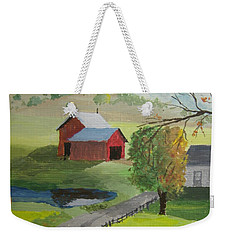 Weekender Tote Bag featuring the painting Fall Walk by Norm Starks