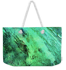 Weekender Tote Bag featuring the mixed media Fallen by Ally  White
