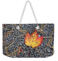 Weekender Tote Bag featuring the photograph Fallen Leaf by Dora Sofia Caputo Photographic Art and Design