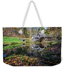 Fallen Leaves At Mabry Mill Weekender Tote Bag