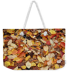 Weekender Tote Bag featuring the photograph Fallen Leaves by Dora Sofia Caputo Photographic Art and Design