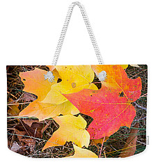 Fallen Leaves Weekender Tote Bag