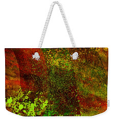 Weekender Tote Bag featuring the mixed media Fallen Seasons by Ally  White