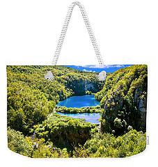 Falling Lakes Of Plitvice National Park Weekender Tote Bag