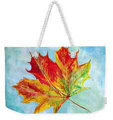 Falling Leaf - Painting Weekender Tote Bag