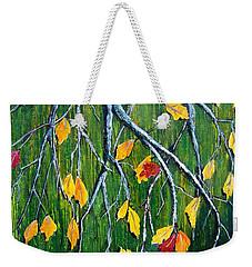 Falling Weekender Tote Bag by Suzanne Theis