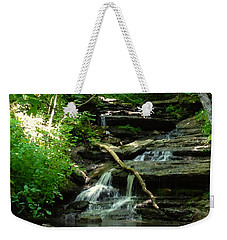 Weekender Tote Bag featuring the photograph Falling Water by Alan Lakin