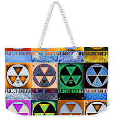 Fallout Shelter Mosaic Weekender Tote Bag by Stephen Stookey