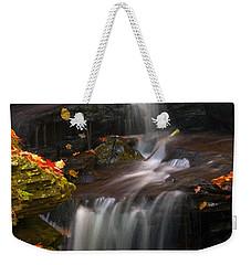 Falls And Fall Leaves Weekender Tote Bag