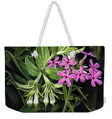 False Gromwell With Prairie Phlox Weekender Tote Bag
