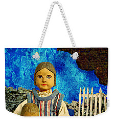Weekender Tote Bag featuring the mixed media Family by Ally  White