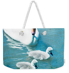 Family Of Swans At The Market Common Weekender Tote Bag