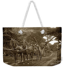 Family Out Carriage Ride On The 17 Mile Drive In Pebble Beach Circa 1895 Weekender Tote Bag