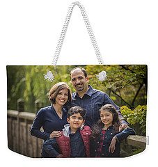 Family Portrait On Bridge - 1 Weekender Tote Bag