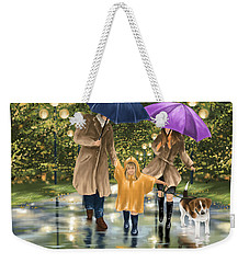 Family Weekender Tote Bag by Veronica Minozzi