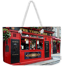 Famous Temple Bar In Dublin Weekender Tote Bag by IPics Photography