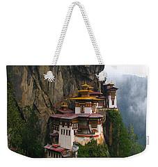 Famous Tigers Nest Monastery Of Bhutan Weekender Tote Bag