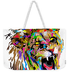 Weekender Tote Bag featuring the painting Fangs by Anthony Mwangi