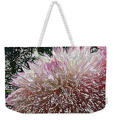 Weekender Tote Bag featuring the photograph Fantasy Dahlia by Denyse Duhaime