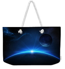 Fantasy Earth And Moon With Sunrise Weekender Tote Bag