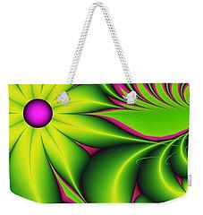 Weekender Tote Bag featuring the digital art Fantasy Flowers by Gabiw Art