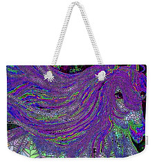 Fantasy Horse Purple Mosaic Weekender Tote Bag