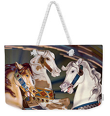 fantasy horses at a fair - Trifecta Weekender Tote Bag