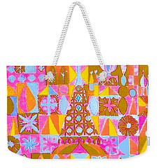 Fantasy In Form Weekender Tote Bag by Beth Saffer