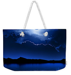 Fantasy Moon And Clouds Over Water Weekender Tote Bag