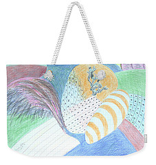 Fantasy Of Egg And Cactus Weekender Tote Bag by Esther Newman-Cohen