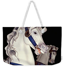 fantasy ponies - Grays on Black Weekender Tote Bag