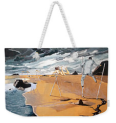 Weekender Tote Bag featuring the painting Faraway Lejanias by Lazaro Hurtado