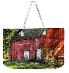 Farm - Barn - The Old Red Barn Weekender Tote Bag by Mike Savad