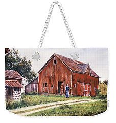 Farm In Fenton Michigan Weekender Tote Bag