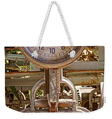Weekender Tote Bag featuring the photograph Farm Scale by Kerri Mortenson
