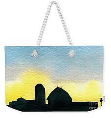 Farm Silhouette 1 Weekender Tote Bag
