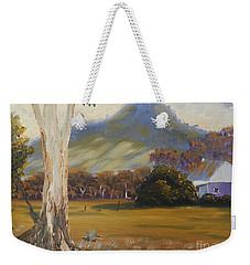 Farm With Large Gum Tree Weekender Tote Bag