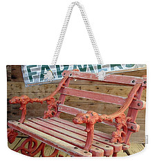 Weekender Tote Bag featuring the photograph Farmer Bench by Kerri Mortenson
