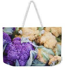 Farmers Market Purple Cauliflower Weekender Tote Bag by Carol Leigh