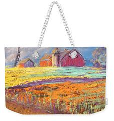 Farmland Sunset Weekender Tote Bag by Terri Einer