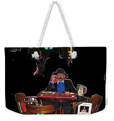 Weekender Tote Bag featuring the photograph Faro Dealer The Shootist John Wayne by David Lee Guss