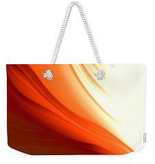 Glowing Orange Abstract Weekender Tote Bag