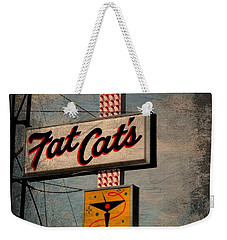 Fat Cat's Lounge Weekender Tote Bag