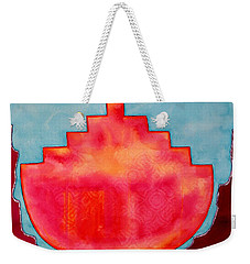 Fat Sunrise Original Painting Weekender Tote Bag