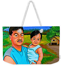 Father And Son Weekender Tote Bag by Cyril Maza